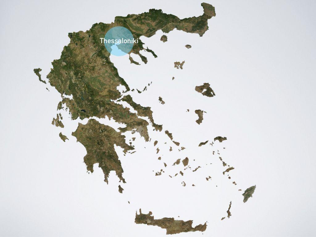 Map of Greece Thessaloniki